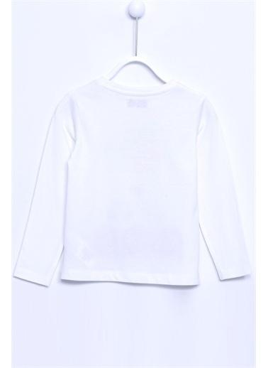 Silversun Kids Tişört Örme Uzun Kollu Baskılı Taşlı Tişört Kız Çocuk Bk 210778 Ekru
